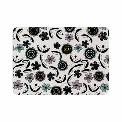Jessica Wilde Artisan Floral Memory Foam Bath Rug Size: 0.5 H x 24 W x 36 D