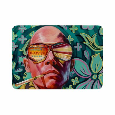 Jared Yamahata Bad Trip Pop Art Floral Memory Foam Bath Rug Size: 0.5 H x 24 W x 36 D