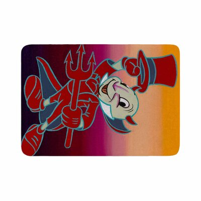 Jared Yamahata Conscience Pop Art Memory Foam Bath Rug Size: 0.5 H x 24 W x 36 D