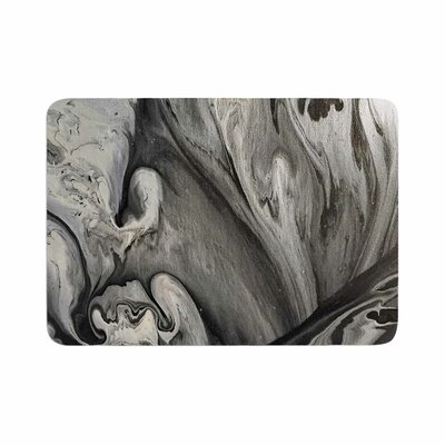 Abstract Anarchy Design Inner Chaos Abstract Memory Foam Bath Rug Size: 0.5
