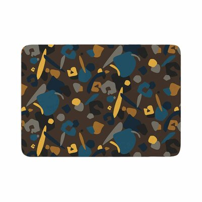 Luvprintz Abstract Leopard Memory Foam Bath Rug Size: 0.5 H x 17 W x 24 D, Color: Teal/Brown