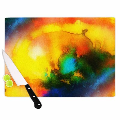"""Mimulux Patricia No Glass 'Good Vibrations Abstract' Cutting Board Size: 0.25"""" H x 11.5"""" W x 8.25"""" D EAAB3041 38561291"""