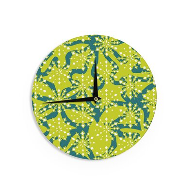 "Miranda Mol 'Festive Splash' 12"" Wall Clock EAAH4759 38574939"