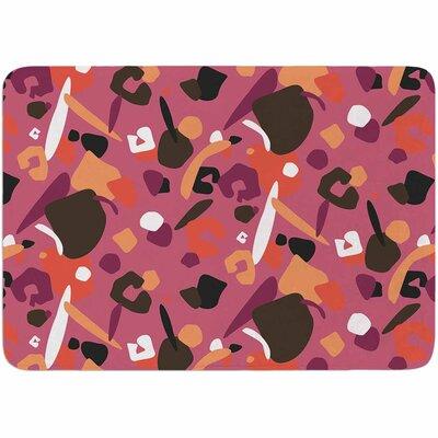 Luvprintz Abstract Leopard Memory Foam Bath Rug Color: Brown/Pink