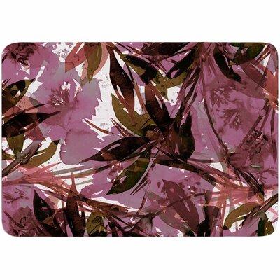Ebi Emporium Floral Fiesta Watercolor Pattern Memory Foam Bath Rug Color: Mauve/Pink