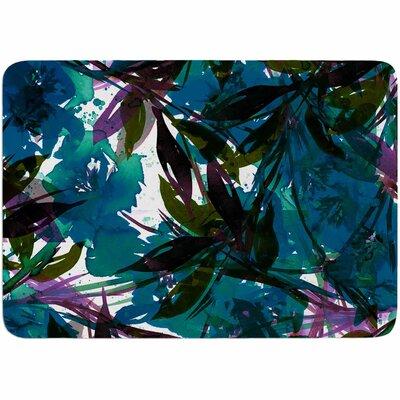 Ebi Emporium Floral Fiesta Watercolor Pattern Memory Foam Bath Rug Color: Teal