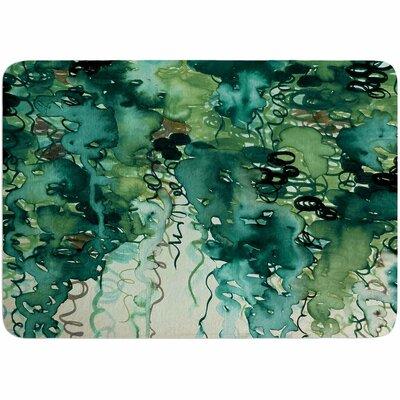 Ebi Emporium Beauty in the Rain Plum Memory Foam Bath Rug Color: Green