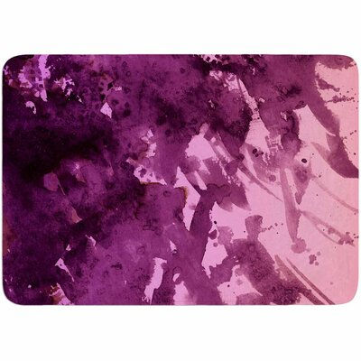 Ebi Emporium Splash Out Coral Maroon Memory Foam Bath Rug Color: Purple/Pink