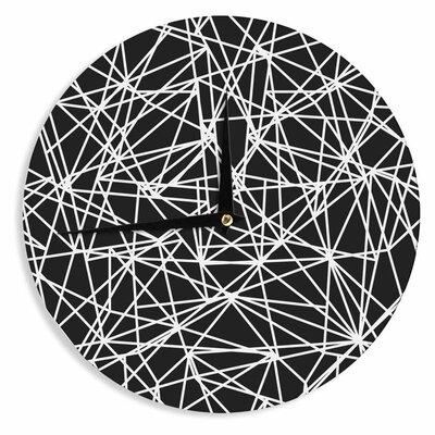 "Fimbis Digital Bionic Rays BW 12"" Wall Clock EAAH1340 38571506"
