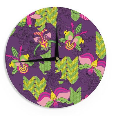 "Billington 'Orchids Festival' 12"" Wall Clock EAAH7870 38578509"