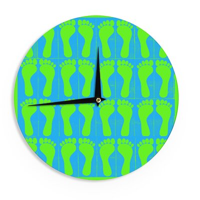 "Sreetama Ray 'Footprints Green' 12"" Wall Clock EAAH7769 38578405"
