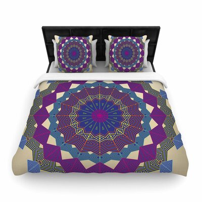 Angelo Cerantola Composition Woven Duvet Cover Color: Purple
