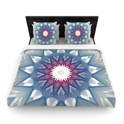 Angelo Cerantola Starburst Digital Woven Duvet Cover Size: Twin