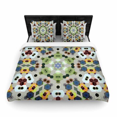 Angelo Cerantola Fruity Fun Modern Woven Duvet Cover Size: King