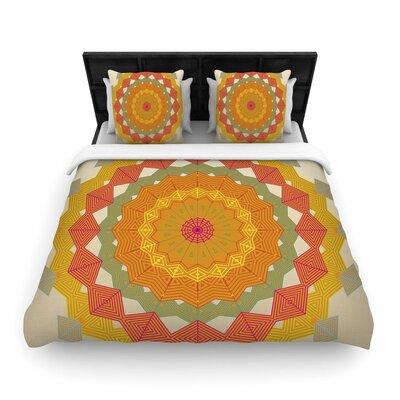 Angelo Cerantola Composition Woven Duvet Cover Size: Twin, Color: Orange
