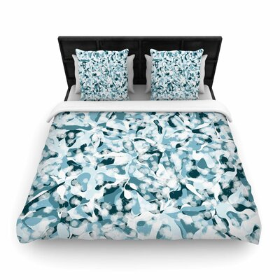 Angelo Cerantola Waterflowers Digital Woven Duvet Cover Size: Full/Queen