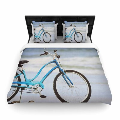 Angie Turner Beach Bike Woven Duvet Cover Size: Twin