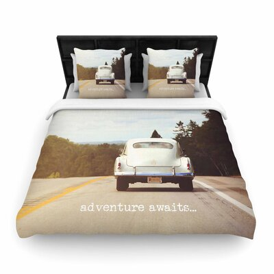 Angie Turner Adventure Awaits Woven Duvet Cover Size: Twin