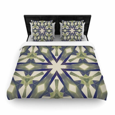 Angelo Cerantola Lymph Geometric Modern Woven Duvet Cover Size: Full/Queen