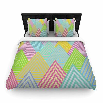 Angelo Cerantola Pastel Mountains Woven Duvet Cover Size: Twin