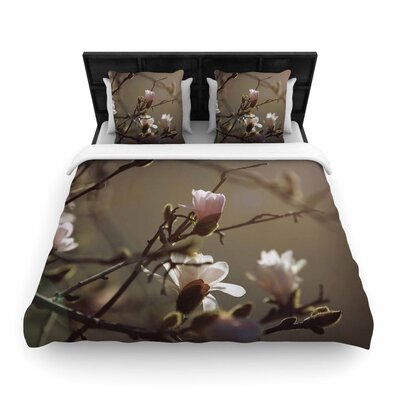 Angie Turner Magnolia Blooms Woven Duvet Cover Size: Full/Queen
