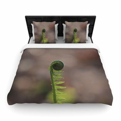 Angie Turner 'Fern Top' Woven Duvet Cover Size: Twin