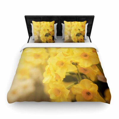 Angie Turner Dreamy Daffodils Woven Duvet Cover Size: Full/Queen