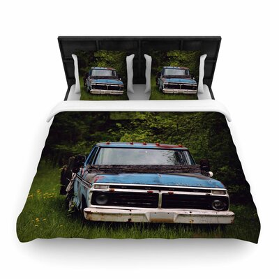 Angie Turner Old Ford Truck Digital Woven Duvet Cover Size: King