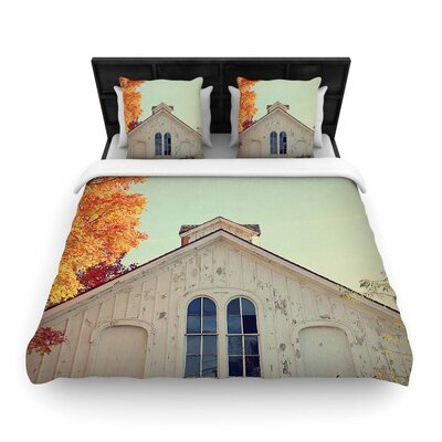 Angie Turner 'Fall Barn Top' Photography Woven Duvet Cover Size: Full/Queen