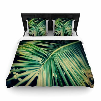 Angie Turner Palm Frond Woven Duvet Cover Size: Twin