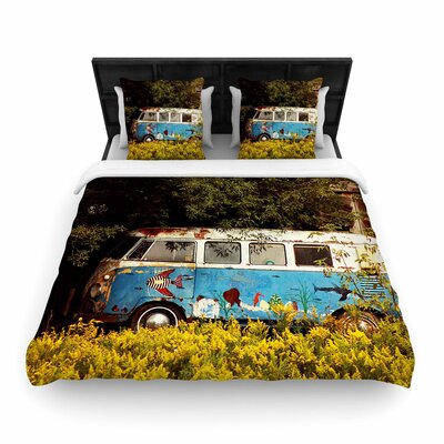 Angie Turner Hippie Bus Woven Duvet Cover Size: King