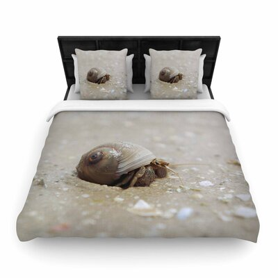 Angie Turner Hermit Crab Photography Woven Duvet Cover Size: Twin