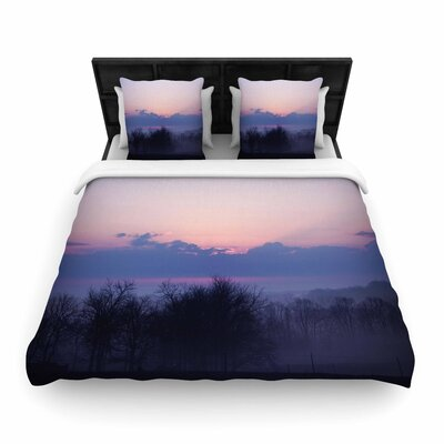 Angie Turner 'Purple Sunrise' Woven Duvet Cover Size: Twin