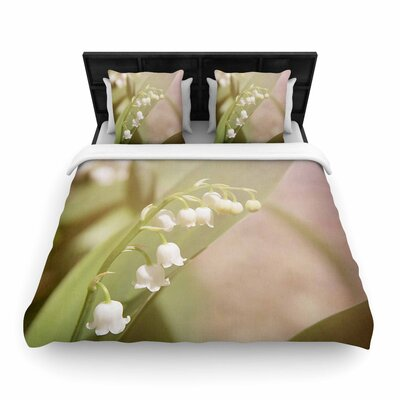 Angie Turner Lily of the Valley Woven Duvet Cover Size: King