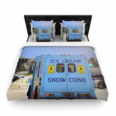 Angie Turner Ice Cream Truck Woven Duvet Cover Size: King