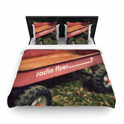 Angie Turner 'Radio Flyer' Woven Duvet Cover Size: King