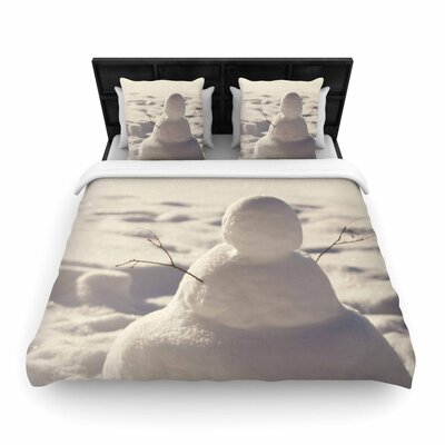 Angie Turner Snowman Woven Duvet Cover Size: Full/Queen