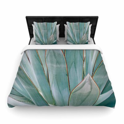 Ann Barnes Agave Abstract Photography Woven Duvet Cover Size: Twin
