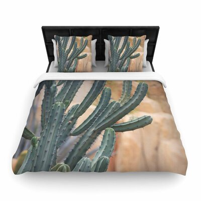 Ann Barnes Cactus Jungle II Photography Woven Duvet Cover Size: Full/Queen