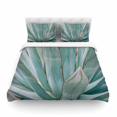 Ann Barnes Agave Abstract Photography Featherweight Duvet Cover Size: King