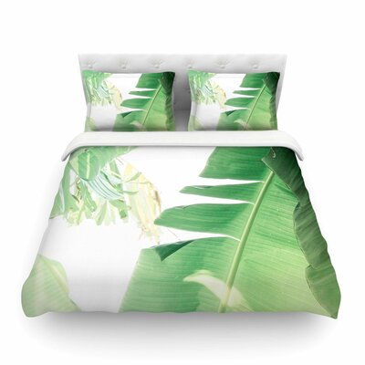 Ann Barnes Banana Leaf I Featherweight Duvet Cover Size: King