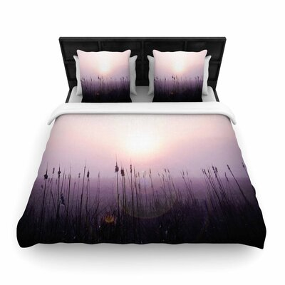 Angie Turner Sunrise Cattails Woven Duvet Cover Size: Twin