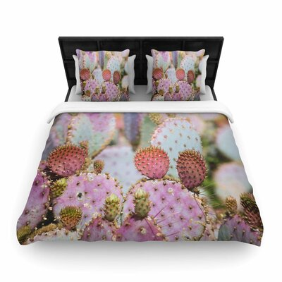 Ann Barnes Cotton Candy Cacti Woven Duvet Cover Size: Twin