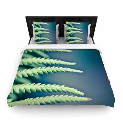 Ann Barnes Into the Forest Woven Duvet Cover Size: Twin