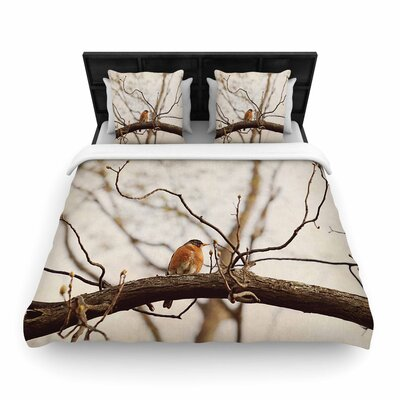 Angie Turner Spring Robin Woven Duvet Cover Size: Full/Queen