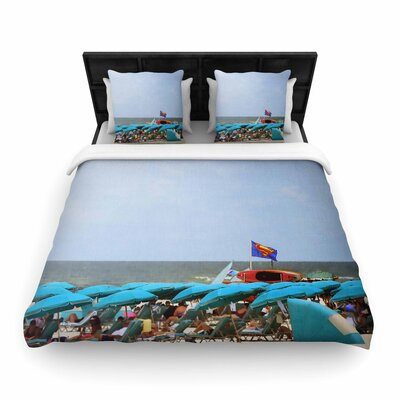 Angie Turner Superman at the Beach Woven Duvet Cover Size: King