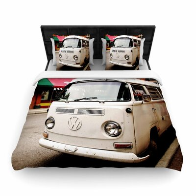 Angie Turner VW Bus Woven Duvet Cover Size: King