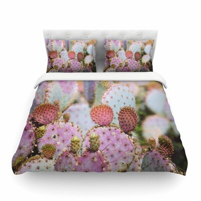 Ann Barnes 'Cotton Candy Cacti' Featherweight Duvet Cover Size: Twin