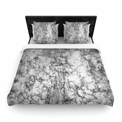 Ann Barnes Marble I Woven Duvet Cover Size: Twin