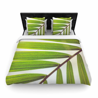 Ann Barnes Jungle Abstract Woven Duvet Cover Size: Twin
